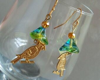 Birds in Paradise Earrings