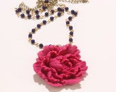 Aphrodite's Heart - Peony Necklace, Wedding Jewelry, Bride, Bridesmaid Gift.