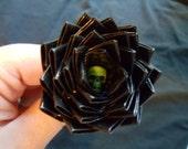 Midnight Madness Duck Duct Tape Black with Green Hidden Skull Rose Pen