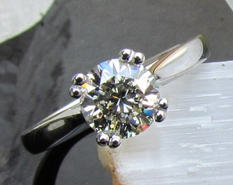 brilliant cut 110ct diamond solitaireplatinum engagement ring sale wedding anniversary pristinejewelry - Prettiest Wedding Rings
