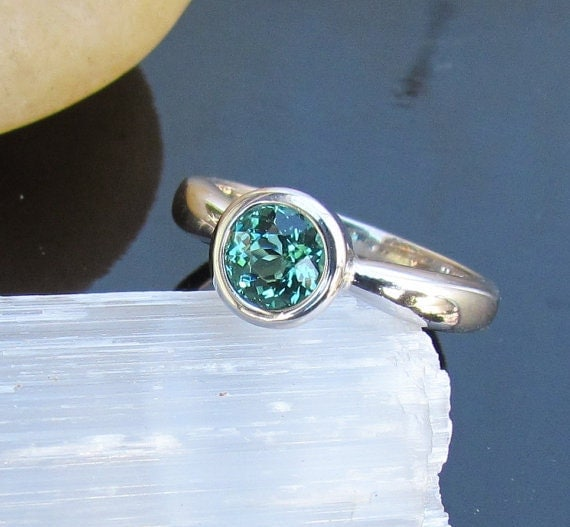 Reserved Paraiba Tourmaline Ring In 14k Gold Bezel Setting