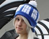 Blue Police Box or Telephone Box Hat - Adult, Teen, Kid - Halloween Costume; nerdy, geekery gift!