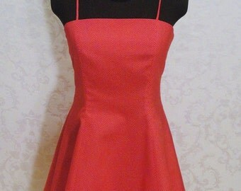 Sale...Beautitul Red and White Polka Dot Dress Party Dress ...Prom Dress Bridesmaids Dress -  Ready to Ship