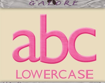 Girly Days Lowercase Alpha Only - Scrapbook Alphabet - Commercial and Personal Use - Digital Designs Galore