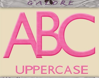 Girly Days Uppercase Alpha Only - Scrapbook Alphabet - Commercial and Personal Use - Digital Designs Galore