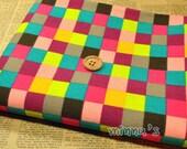 Heavy Cotton Canvas - Colorful Checks - Fat Quarter(29in x 19in) - CF065