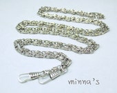 1 PCS Silver-tone Sewing Metal Purse Frame Chains/Links With Lobsters- 120cm - LBH051