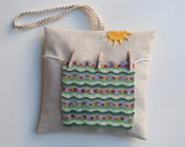 Lavender sachet pillow, Airing the Afghan on a Sunny Day Shabby chic Home Decor
