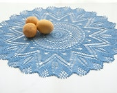 Crocheted Doily // Delft Blue // Gift for the Home // Table Decor // Wall Decor - TableTopJewels