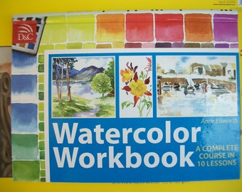 Watercolor Paint Instruction Workbook ~ Hard Cover Spiral