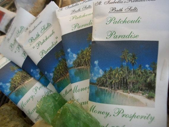Patchouli Paradise Bath Salts - Organic Detox Bath Soak 9oz ~ Herbs & Essential Oils