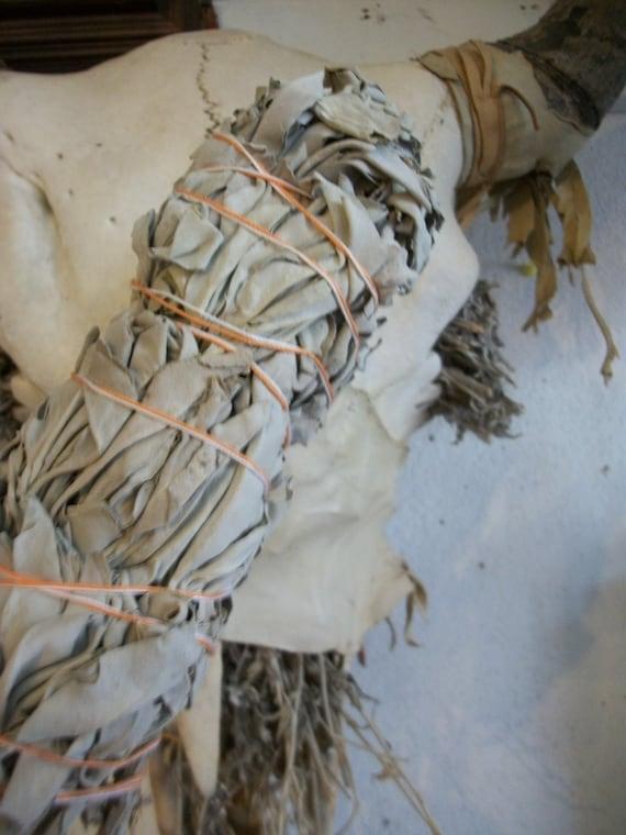 "Organic White Sage Bundle Extra Large 9"" long x 6"" around, Sweat Lodge, Entire Home, Medicine Circle, Aura Cleanse"