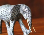 SALE Carved Elephant