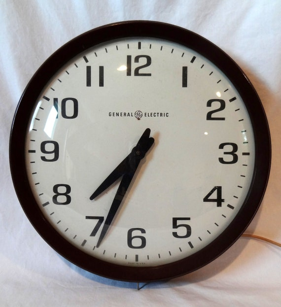 Vintage Large Ge School Wall Clock By Shopaudreys On Etsy