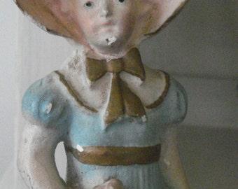 vintage chalkware girl