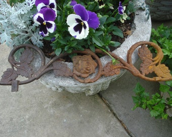 rusty and crusty iron gate fragment