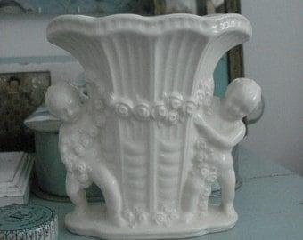 Vintage cherubs  vase