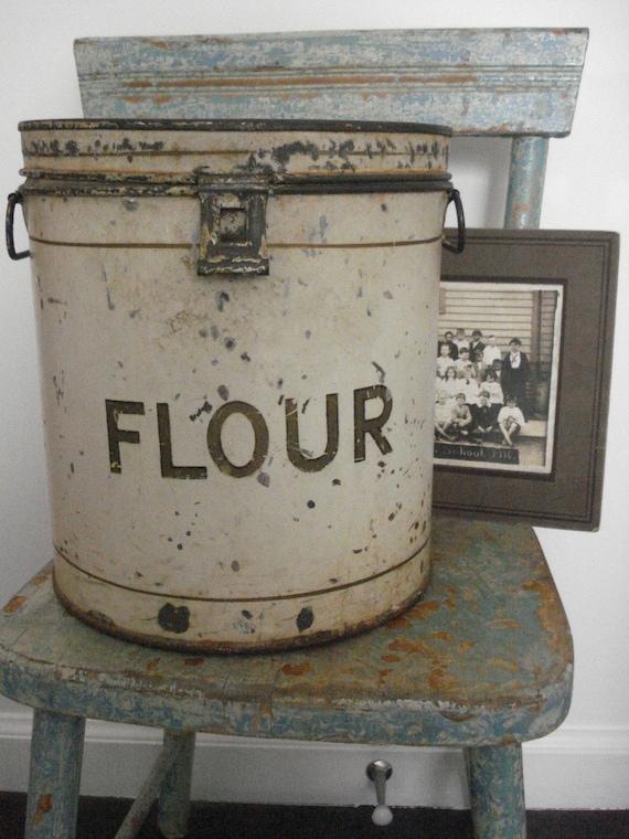 SALE  vintage flour can