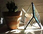 Stained Glass Bevel Quartz Inspired Plant Topper