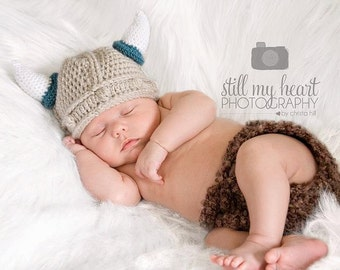 Boy or Girl Baby Viking Hat 0-6 mo