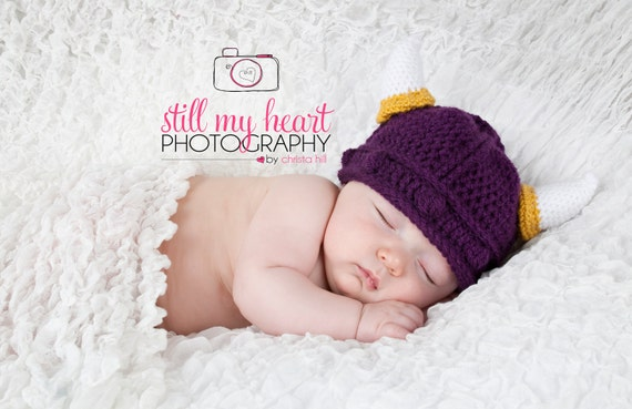 Baby Minnesota Vikings Hat 0-6 mo