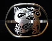 Celtic drake bangle bracelet