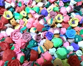 500 Large Fimo Polymer Clay  Flower Fimo Colorful Beads 8mm-13mm Variety Set