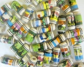Clearance New 50 Ceramic handpainted Llama Tube Beads Variety