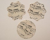 Vintage music sheet small doily