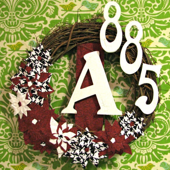Alabama Crimson Tide Houndstooth Address Wreath