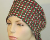 Scrub Hat - Christmas Plaid