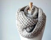 Infinity scarf, winter scarf, crochet scarf, Chunky scarf, Kraeo scarf,  scarf crochet (The Abington Warmer in oatmeal)