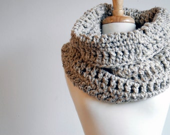 Scarf, Infinity Scarf, Cowl, Circular Scarf (The Harvard Warmer in Oatmeal)