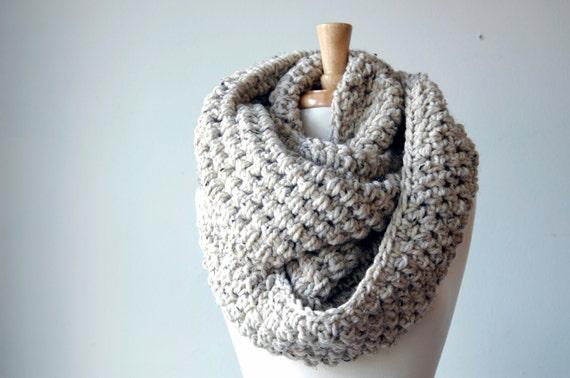 Infinity scarf, winter scarf, crochet scarf, scarf crochet (The Abington Warmer in oatmeal)