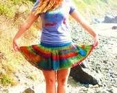 Rainbow Crochet Skirt-made to order