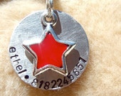 The Ethel (#119) - Handstamped Star Pet Tag Dog Unique Aluminum