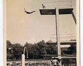 All Eyes on Super Athlete Karl Mandel - High Flying Playboy Diver - Pair of Photos ca 1940