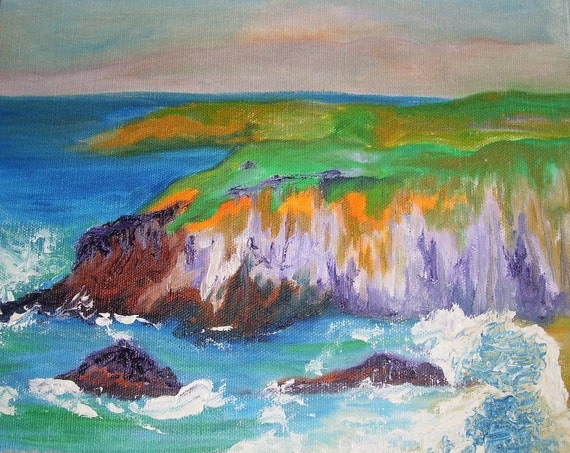 """School House Cliff, oil painting 8""""X10"""""""