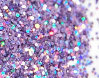 Holo Purple Glitter, SOLVENT RESISTANT, HOLOGRAPHIC Glitter, 0.015 Hex, Glitter Nail Art, Glitter Nail Polish, Glitter Craft, Purple Glitter