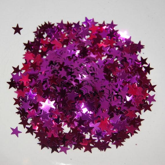 Light Purple Glitter Large Stars - 1 Fl. Ounce