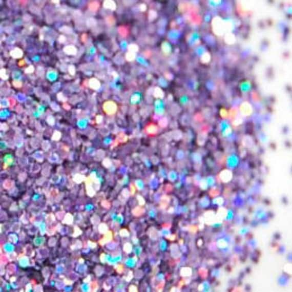 Rainbow Purple SOLVENT RESISTANT HOLOGRAPHIC Glitter 0.015 Hex - 1 Fl. Ounce for Glitter Nail Art, Glitter Nail Polish & Glitter Crafts