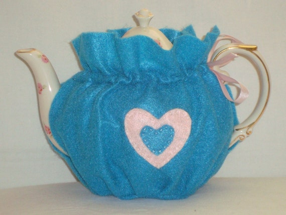 Turquoise Felt Tea Cozy