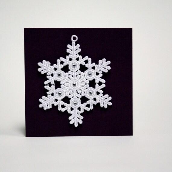 machine embroidered ornaments
