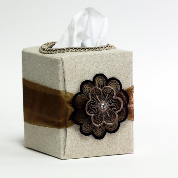 Tissue box accessory for home or office, customize