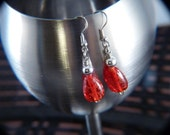 Spotted Red Earrings