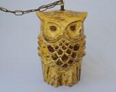 Vintage Hanging Owl Swag Lamp