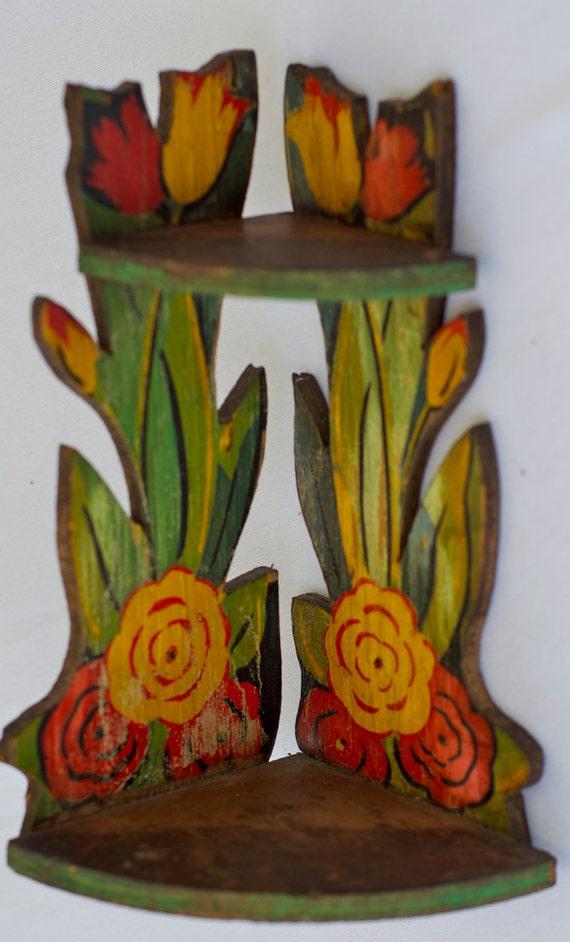 Small Flower Corner Shelf - Lightweight