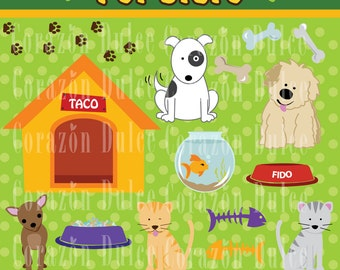PET STORE Digital Clip Art Set - Personal and Commercial Use Clip Art Originals design elements