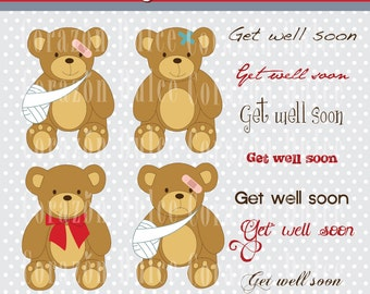 Cute teddy bear 2Digital Clip Art Set - Personal and Commercial Use Clip Art