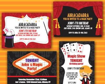 MAGICAL PARTY  Invite/ Party digital printable invitation- Originals design elements